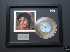 "MICHAEL JACKSON - Pretty Young Thing 7"" Platinum DISC with cover"
